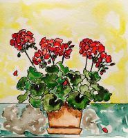 Front Porch Geranium by mybuttercupart
