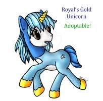 Royal's Gold Adoptable $4! by MREcartoonist