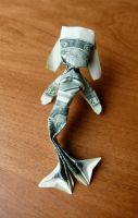 Dollar Origami Mermaid by craigfoldsfives