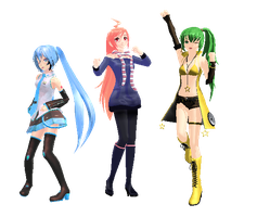 MMD pose pack 2 by madelinemaryann