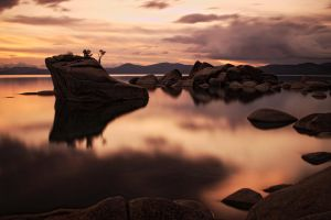 Bonsai Rock - Sunset 1 by DMMDesign