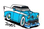 1956 Chevy Bel Air Cartoon by Jetster1