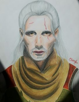 The Witcher - Mads Mikkelsen by Elveariel