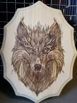 Woodburning - Wise Wolf - Christmas Gift by Stepher17