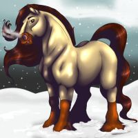 Winter Horse Commission by HotrodsImpulse