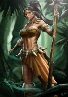 Nidalee The Bestial Huntress by FeiHai