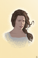 Evangeline Lilly Portrait by Georgel-McAwesome