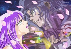 Only your eyes ( Saint Seiya Saga x Athena) by Yanan-e-Gemma