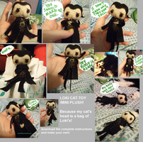 loki cat-toy mini plush by trickyprincess