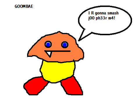 Poorly drawn Goomba by larrykoopa12345