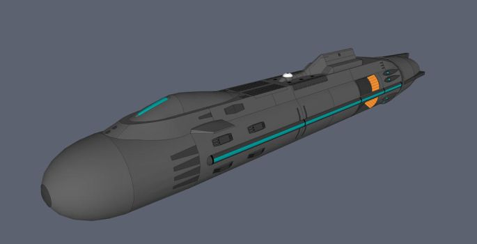 Space submarine concept by quacky112