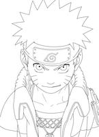naruto lineart by CrazyLZ