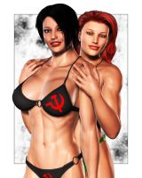 Newlyweds...in bikinis by Soviet-Superwoman
