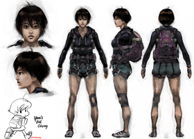 Umihara Kawase movie design by stupjam