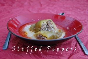 Meat and Rice Stuffed Peppers by WhatsToEast