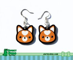 Shiba Inu Earrings by brandimillerart