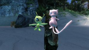 gmod - pokemon: Mew and Celebi 1 by delta-28