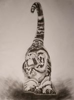 Stretched out Tiger by RichardFrost