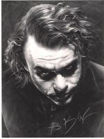 joker ''Heath Ledger'' by whitekhan25