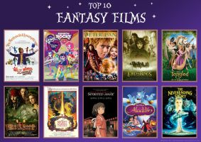 Top 10 Fantasy Films by ThatBronyWithGlasses