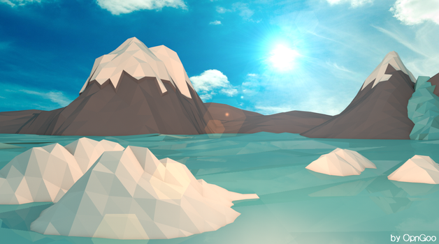 Low-Poly Landscape N2 - Ice by OpenGoo