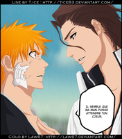 Ichigo and Aizen by Law67