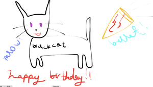 Blackcatbullet's Birthday by nosugarjustanger