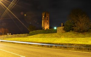 Magdalen Tower at Night by haggins11
