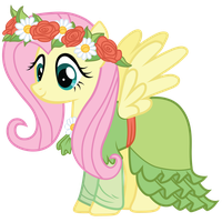 Fluttershy's Coronation Dress by Bethiebo