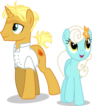 gordon ramsay and unnamed pony by illumnious