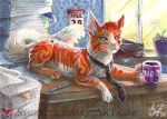 ACEO Business Cat by Sysirauta