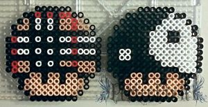 Plaid and Yin and Yang Mushrooms by PerlerPixie