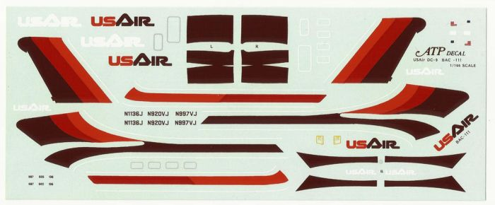 US Air DC9 decals by master-ninjabear