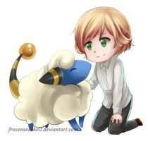 HetaPoke-New Zealand+Mareep by FrozenSeashell