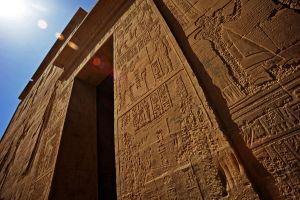 Hieroglyphs, Philae Temple by fourthwall