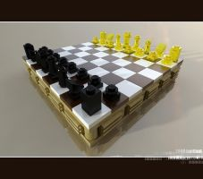 Lego, mini chess by lantlant