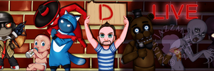 DLive Youtube Banner[Commission +Speedpaint] by Miss-Jazzmatazz