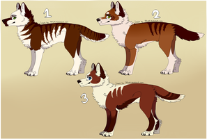 Red themed canine adopts [1/3 OPEN] [80 points] by Vencentio