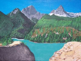 Mountains and Lake by PlayerBill