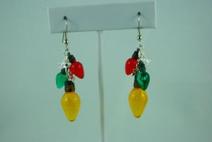 Christmas Lights Earrings IV by michelleaudette