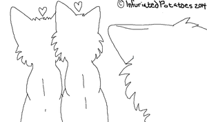 Unloved - CAT LINEART! MS PAINT FRIENDLY by InfuriatedPotatoes