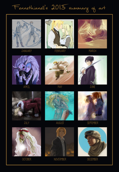 2015 Summary of art by Fennethianell