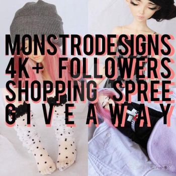 MonstroDesigns 4K+ followers Giveaway by MonstroDesigns