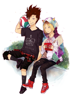Haikyuu: Kenma and Kuroo by zoklock