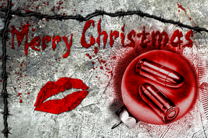 Bullets and Kisses Equal a Merry Christmas by VelmaGiggleWink
