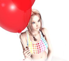 Red Balloon by Karaliina