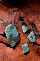 Chrysocolla cabs by lamorth-the-seeker