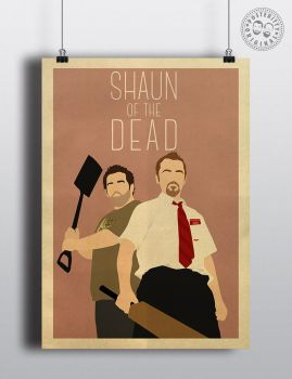 Shaun Dead Minimalist Movie Poster Posteritty by Posteritty