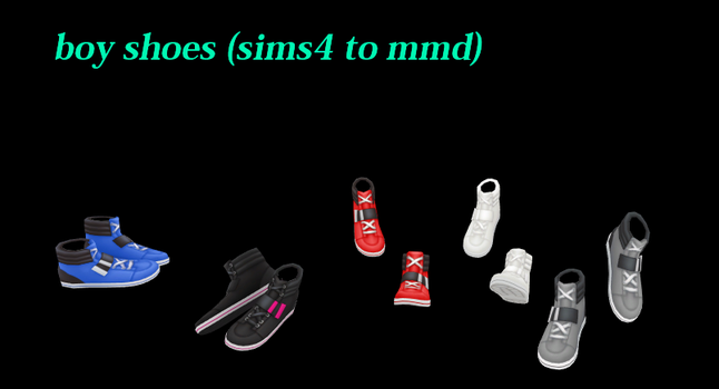 Boy Shoes (sims4 To Mmd) by LULIRINE