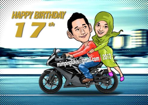 I ll Drive u to My Life (Caricature for commision) by Angga701